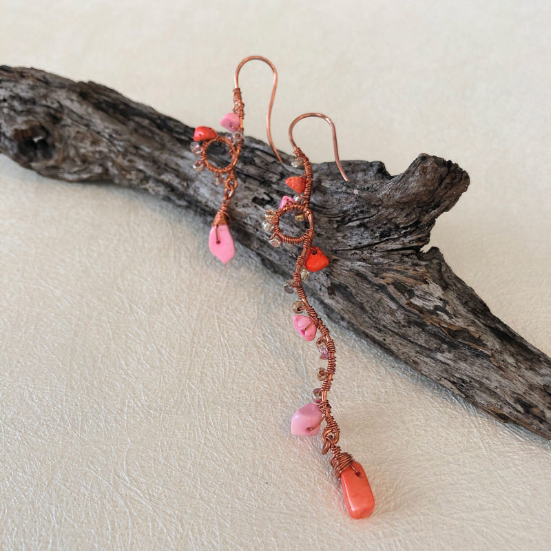 Play Pink & Candy Coral Earrings