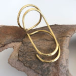 Brass Line Ring 58